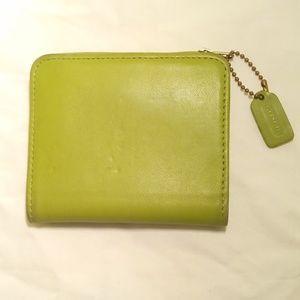 Vintage Peridot Coach Wallet